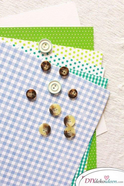 DIY Einladungskarten basteln - Materialien