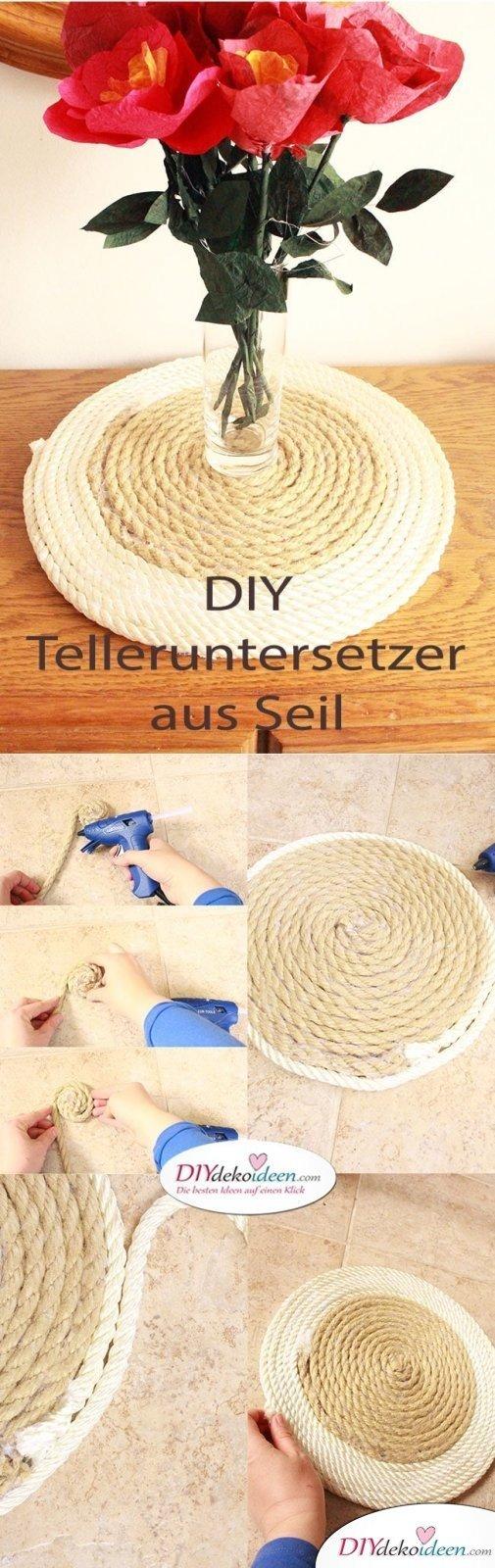 DIY Dekoidee Seil-Telleruntersetzer mit Stil