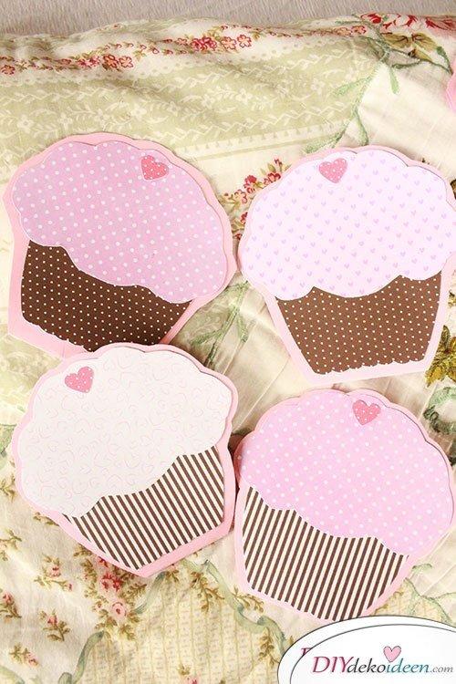 Süße DIY Muffin-Karten selber basteln