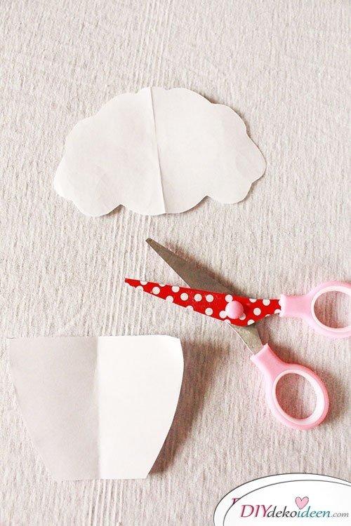 DIY Muffin-Karten basteln zum Kindergeburtstag
