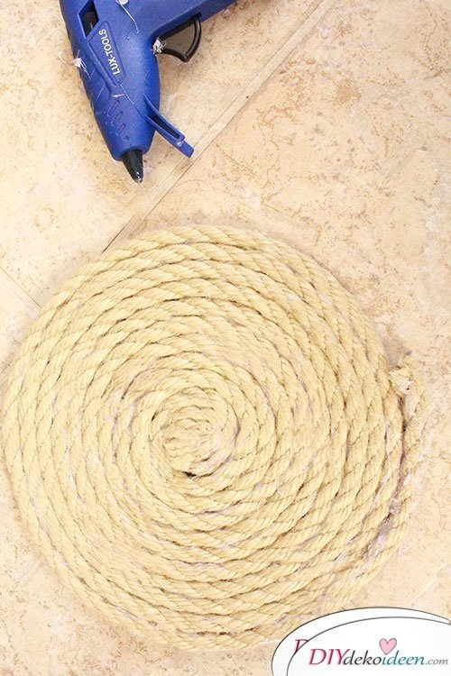 Basteln mit Seil - DIY Telleruntersetzer