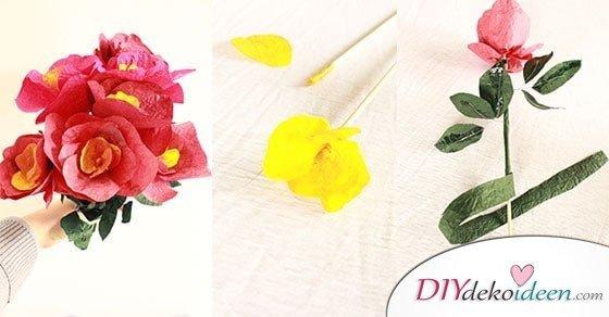 Geschenke zum Muttertag selber machen: Süßer DIY Papierblumenstrauß