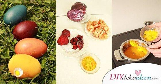DIY Bastelidee zu Ostern – Ostereier färben mit Naturfarben
