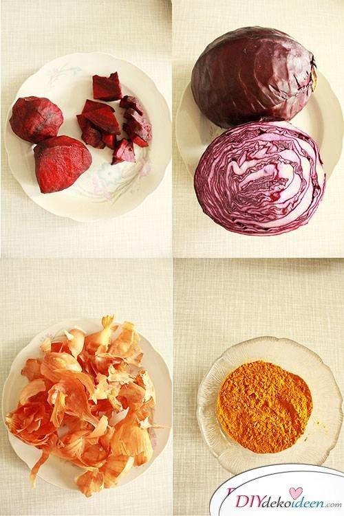 DIY Dekoidee zu Ostern - Eier natürlich färben