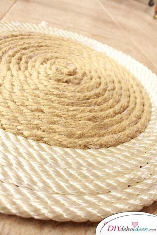 DIY Platzdeckchen aus Seil - Dekoidee