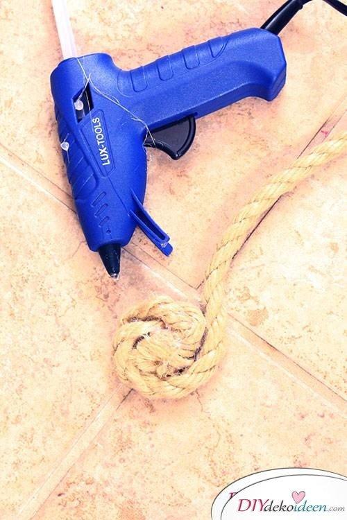 DIY Platzdeckchen - Basteln mit Seil