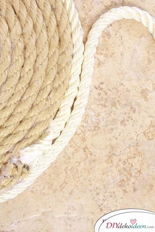Basteln mit Seil - DIY Wohnaccessoire