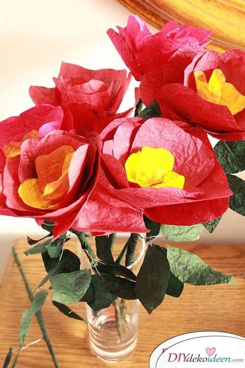 Zum Muttertag - DIY Blumenstrauß selber basteln