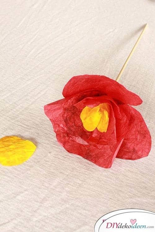 Basteln mit Knitterpapier - DIY Muttertagsgeschenk