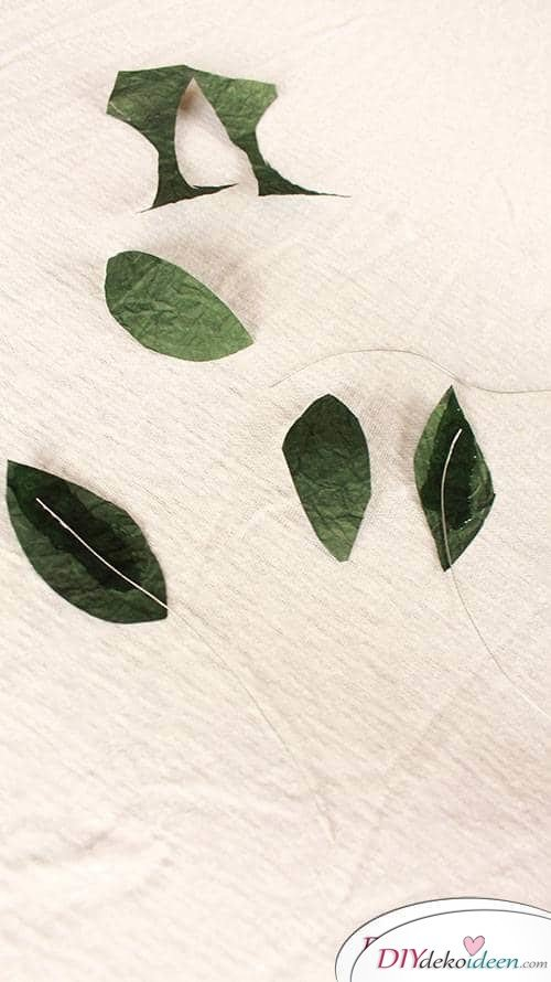 Blätter basteln aus Papier - DIY Geschenk zum Muttertag