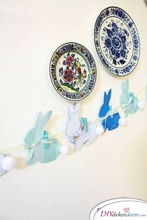 DIY Girlande zu Ostern basteln
