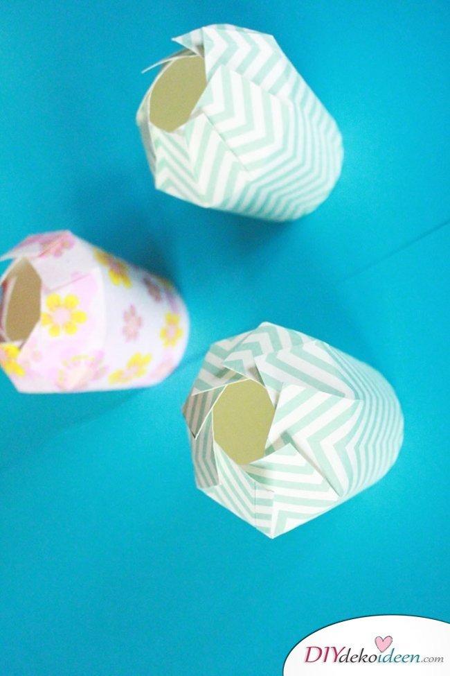 DIY Geschenkschachtel aus Pappbechern - Geschenkideen