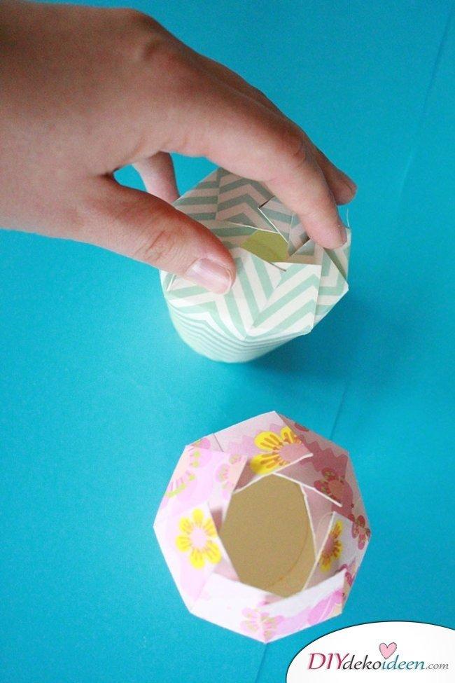 DIY Geschenkschachtel aus Pappbechern
