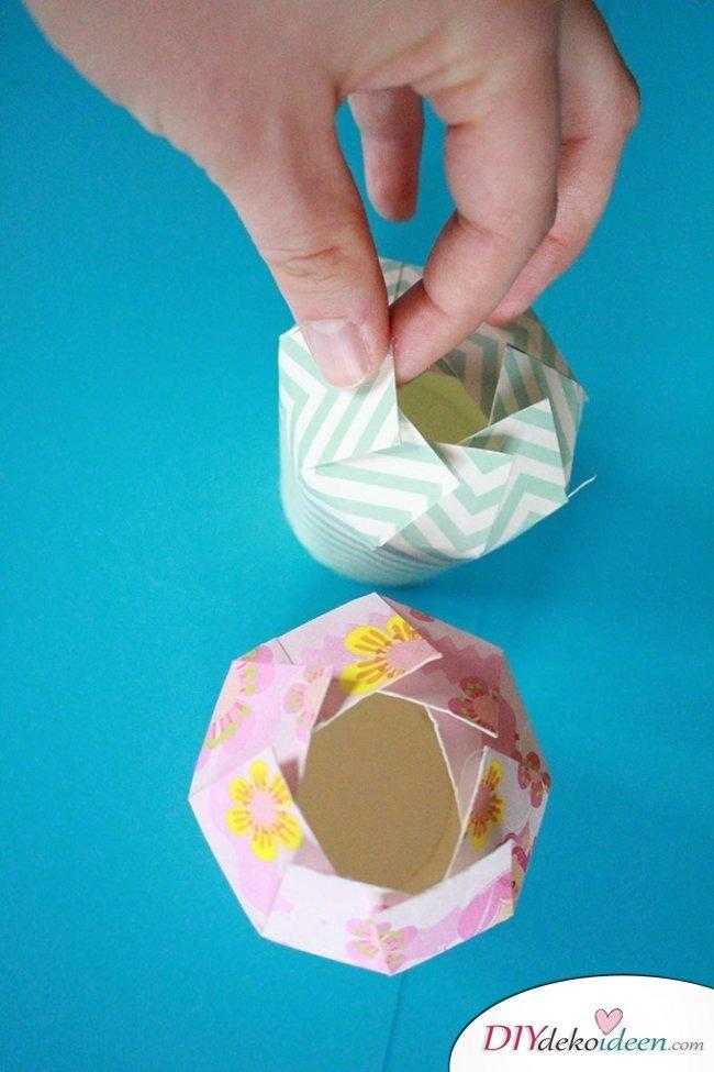 DIY Bastelideen - Geschenkschachtel aus Pappbechern