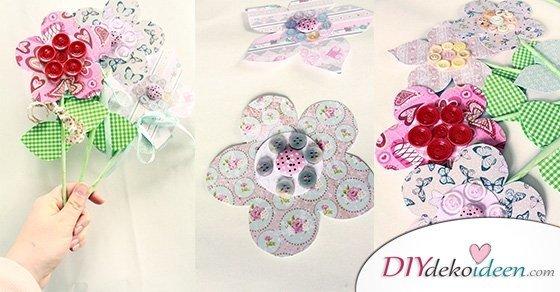 Mama wird dieses DIY Muttertagsgeschenk lieben! Blumen basteln mit Papier