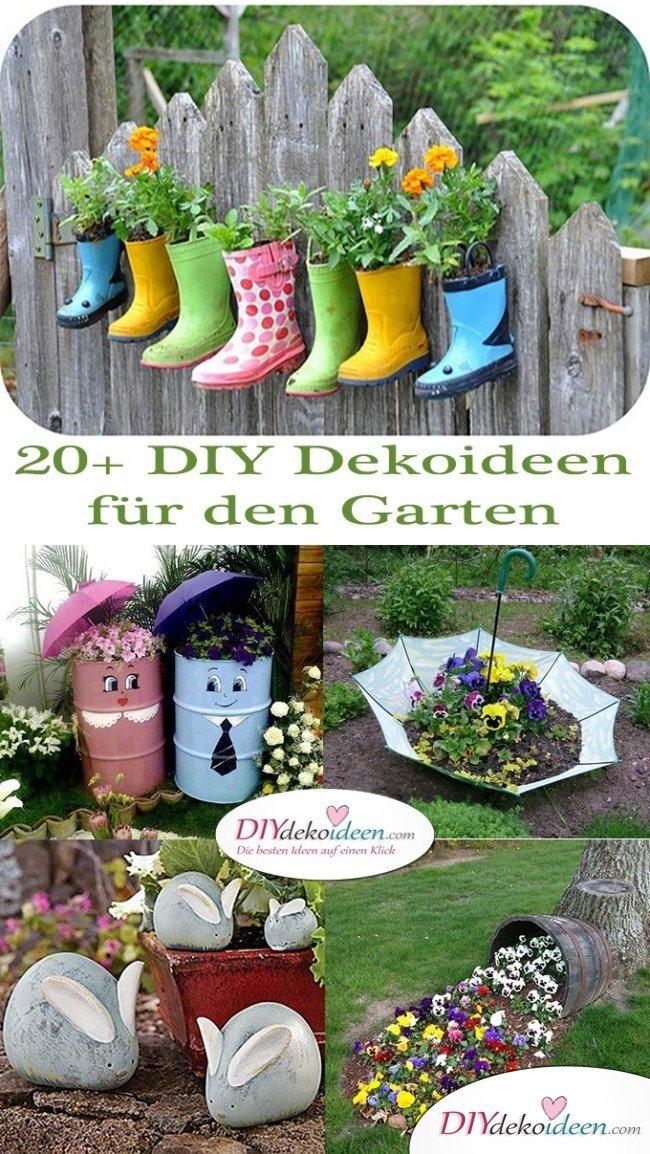 20+ DIY Dekoideen für den Garten – Gartendeko selber machen