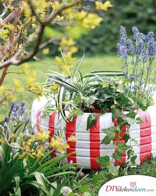 Autoreifendeko – Gartendeko selber machen