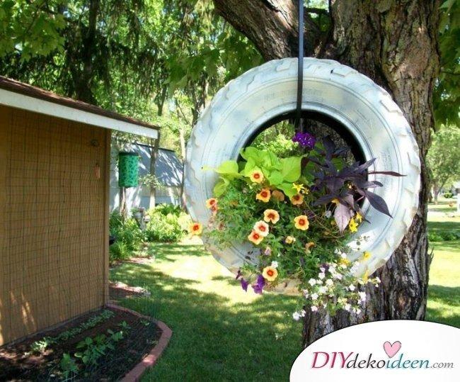 Reifendeko – Gartendeko selber machen