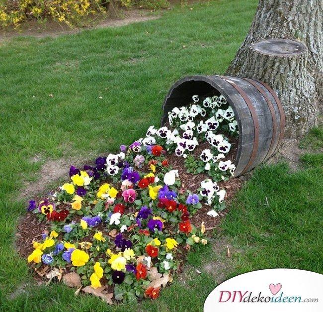 Blumenkübel – Gartendeko selber machen