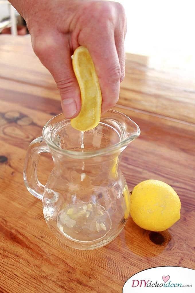 DIY Haushaltstipps und Life-Hacks - Zitronensaft auspressen
