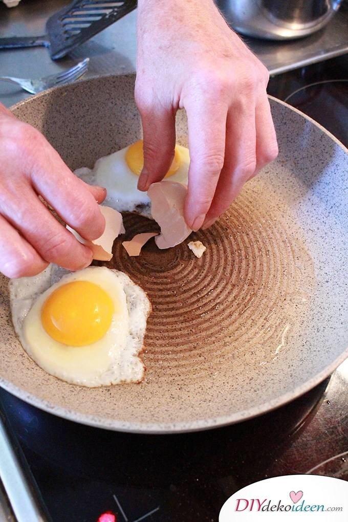 DIY Haushaltstipps und Life-Hacks - Eierschalen entfernen