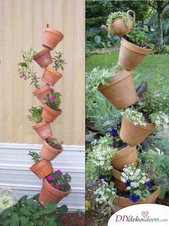 DIY Garten Dekoideen - DIY Blumenbeet