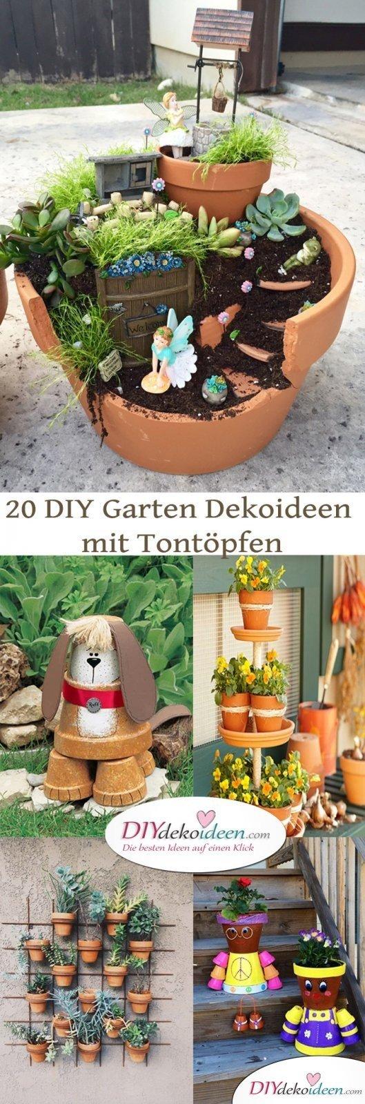 Diy Garten Dekoideen Mit Tontöpfen Die Man Ganz Leicht