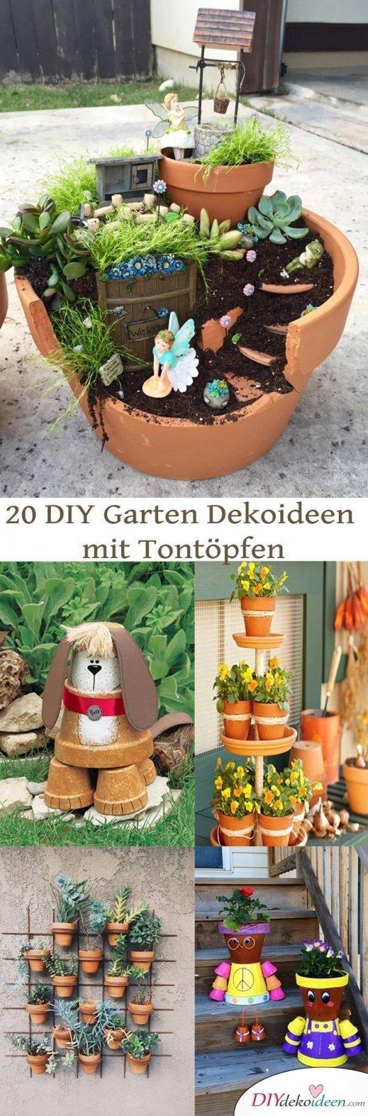 Diy Garten Dekoideen Mit Tontöpfen, Die Man Ganz Leicht Selber ... Gartendeko Tontopfen Selber Machen