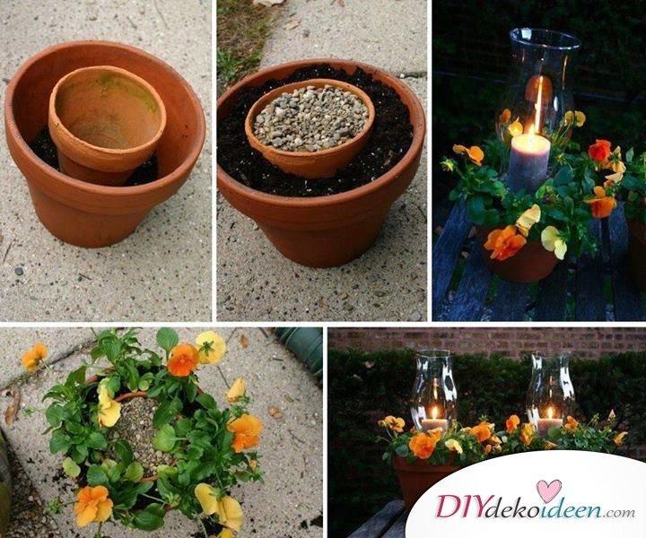 DIY Garten Dekoideen - DIY Kerzenlichter