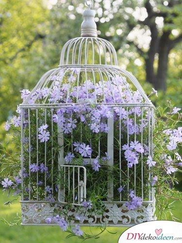 DIY Gartendeko selber machen – Vogelkäfigdeko