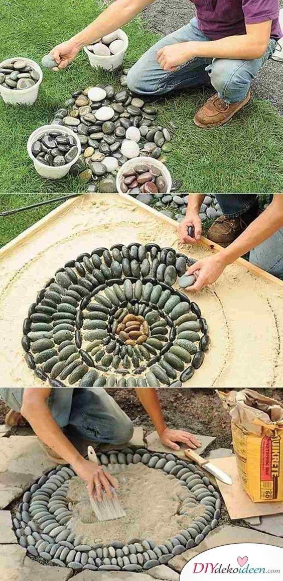 DIY Gartendeko selber machen – Steinmosaik