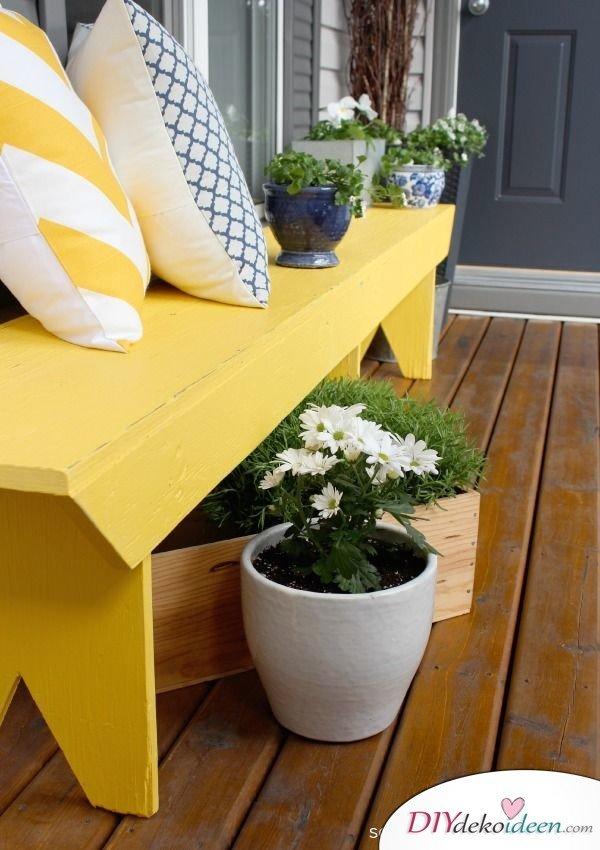 DIY Gartendeko selber machen – Gartenbank
