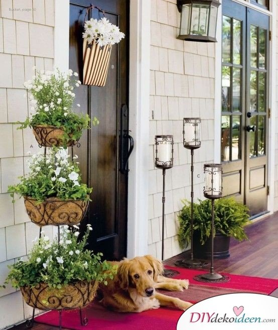 DIY Gartendeko selber machen – Blumenampel
