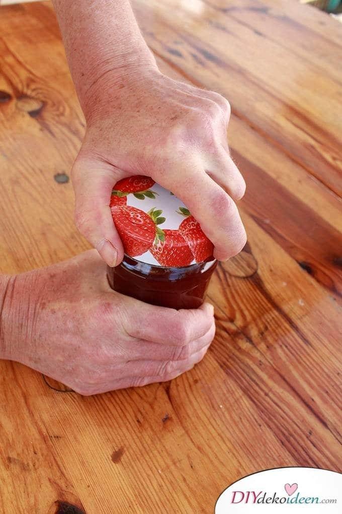 Haushaltstipps und Life-Hacks - Marmeladenglas öffnen