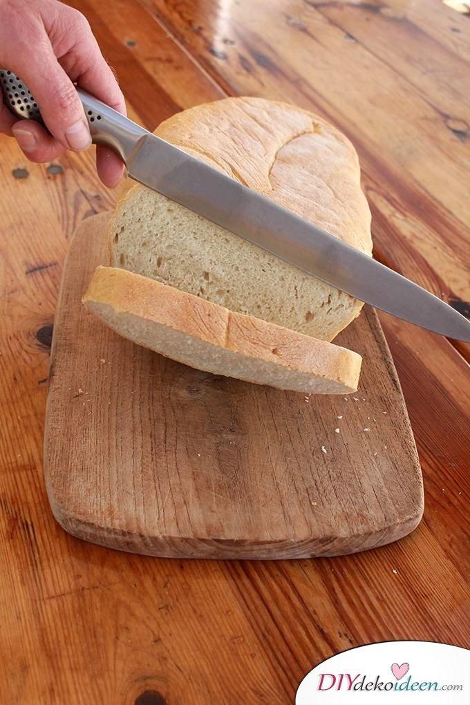 Haushaltstipps und Life-Hacks – Brot schneiden