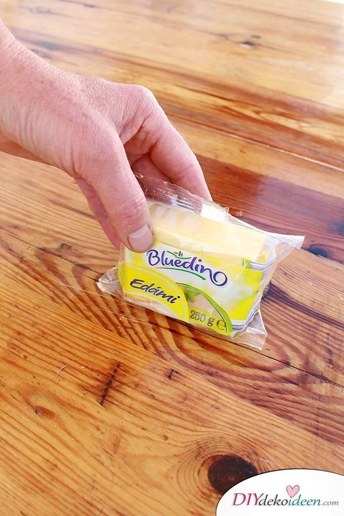 Haushaltstipps und Life-Hacks - Käse frisch halten