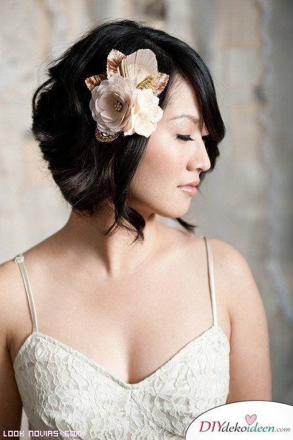 DIY Brautfrisuren für kurze Haare - Haare stylen