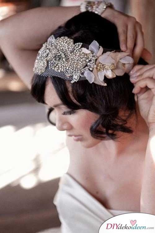 DIY Brautfrisuren für kurze Haare - Lockiger Bob