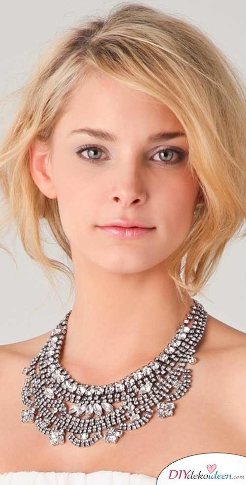DIY Brautfrisuren für kurze Haare - Frisuren für glattes Haar