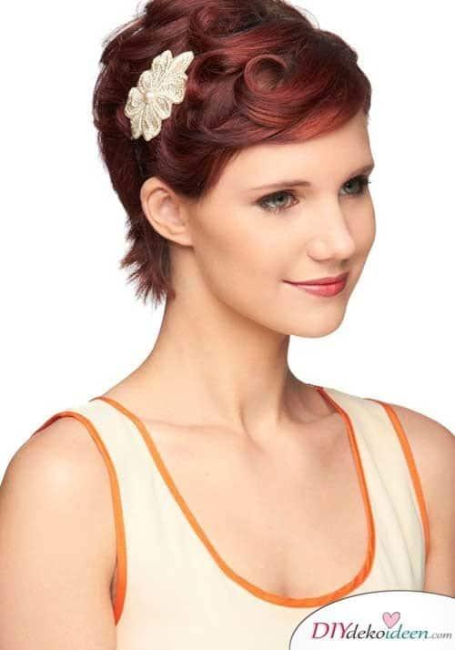 DIY Brautfrisuren für kurze Haare - Frisuren für gefärbtes Haar