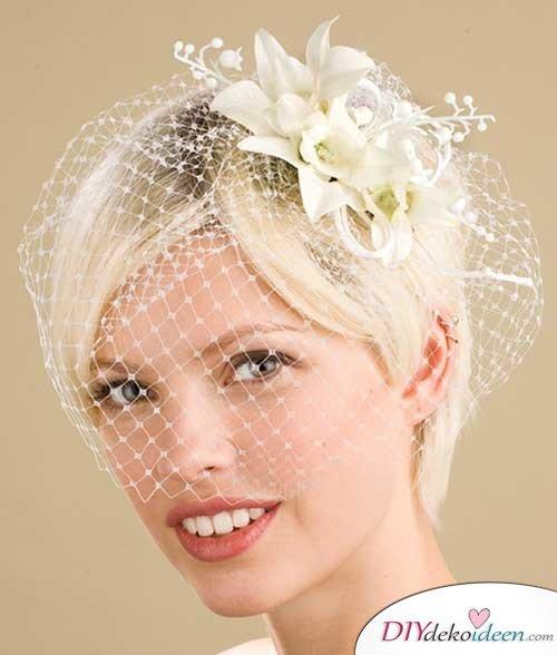 DIY Brautfrisuren für kurze Haare - Weißblond