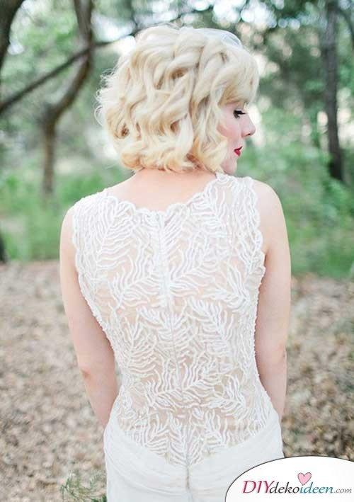 DIY Brautfrisuren für kurze Haare - Frisuren für blondes Haar