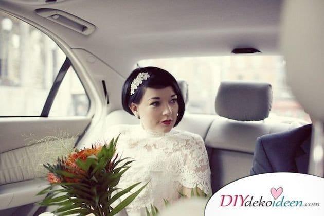 DIY Brautfrisuren für kurze Haare - Trendige Frisuren für glattes Haar