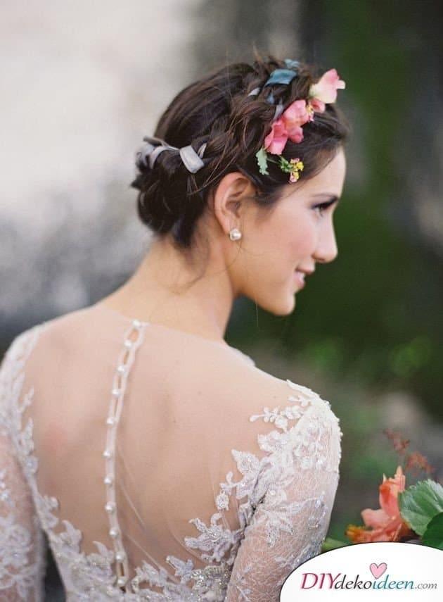 DIY Brautfrisuren für kurze Haare - Flechtfrisuren