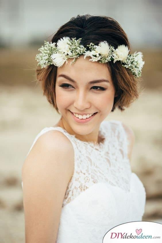 DIY Brautfrisuren für kurze Haare - Sommerfrisuren