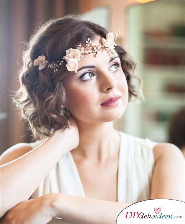 DIY Brautfrisuren für kurze Haare - Frisurentrends 2017
