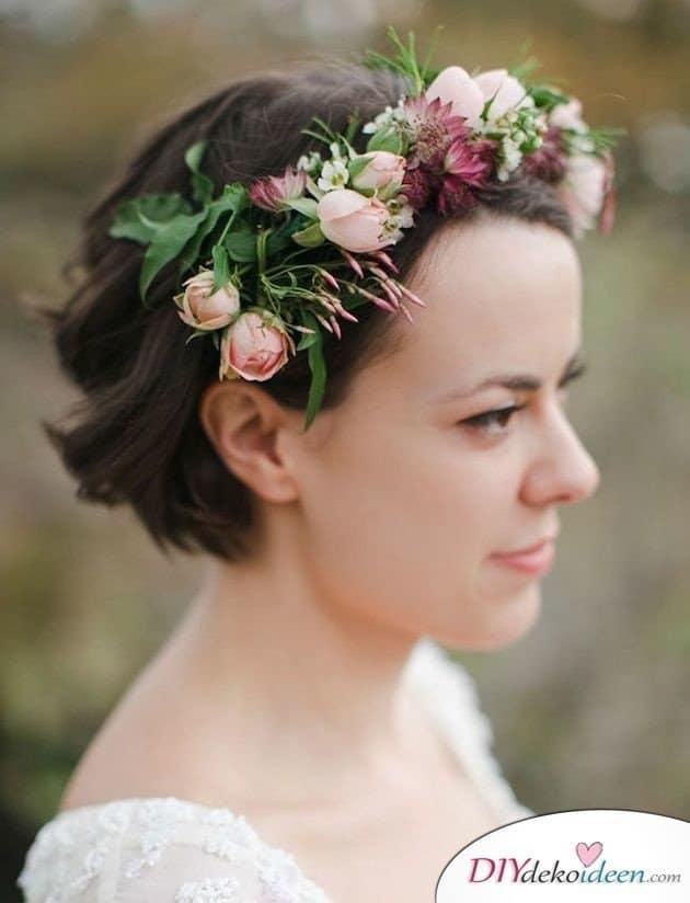DIY Brautfrisuren für kurze Haare - Styling für kurze Haare