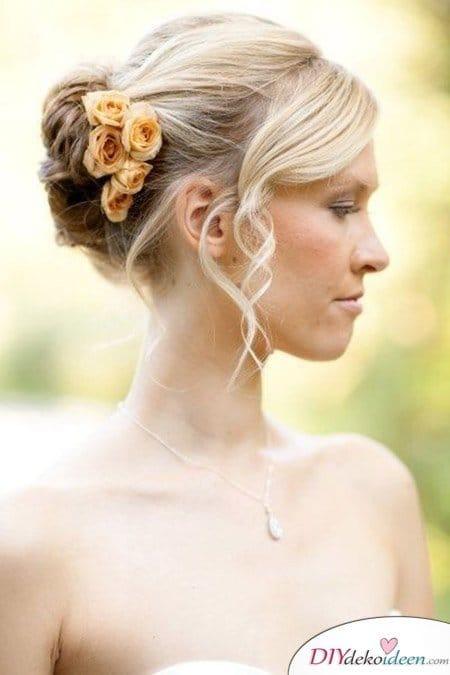 DIY Brautfrisuren für kurze Haare - Dutt