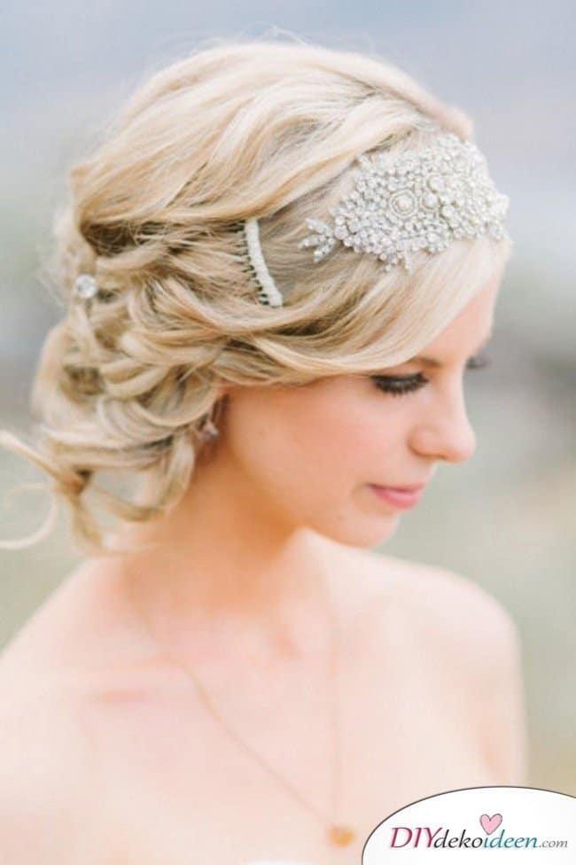 DIY Brautfrisuren für kurze Haare - Haarband