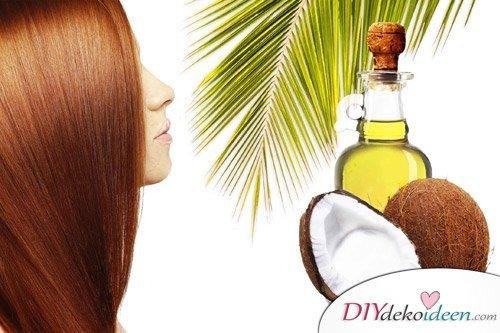 DIY Hausmittel gegen Spliss - Kokosnussöl-Haarmaske